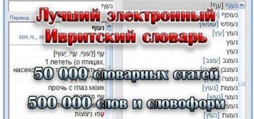 IRIS 3.61 - иврит-русский электронный словарь