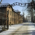big1402 KL Auschwitz Work makes free Arbeit macht frei Today