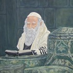 Rabbi_in_mornng_prayer_by_Lew_Rosenberg