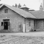 The new crematorium in Dachau, which was completed in May 1944