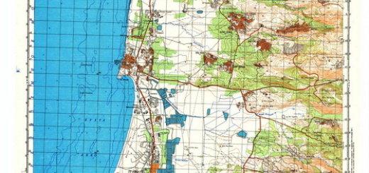 Карты Израиля - 1:50000 (на русском языке)
