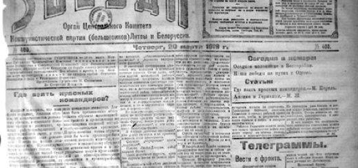 Минские газеты 1918-1919гг, отражая еврейскую проблематику