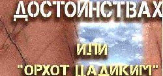 """Аарон-Иеуда-Лейб Штейнман - Книга о человеческих достоинствах или """"Орхот Цадиким"""" (1996)"""