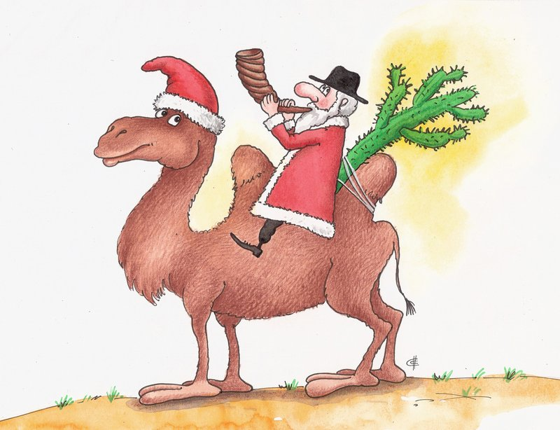Еврейский Дед Мороз и Jewish Santa Claus - подборка картинок