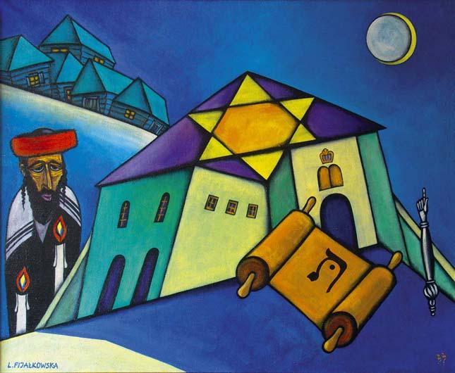 Колоритные еврейские картины художницы Lili Fijalkowska