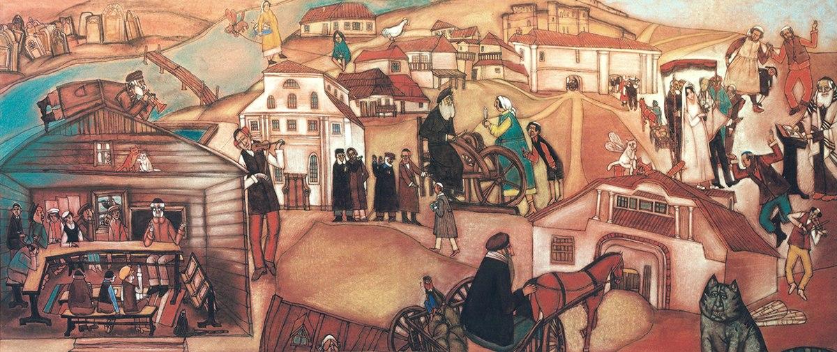kotlyar img12 Еврейское местечко на картинах художницы Елены Серединой (Котляр)