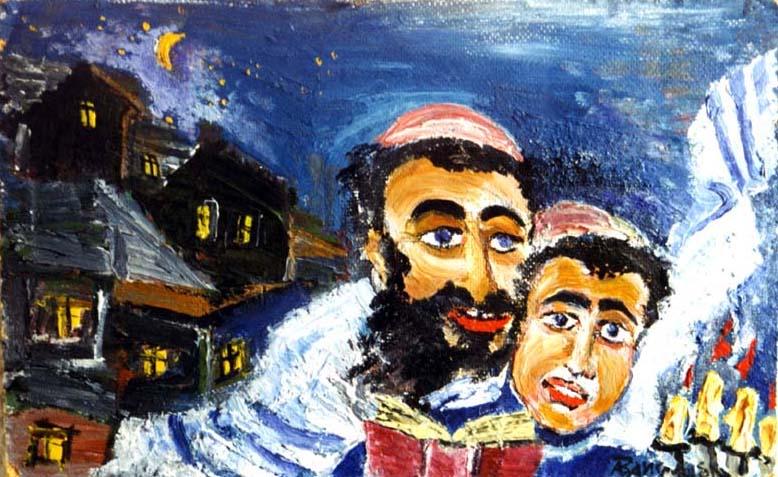 Еврейские Черновцы и клезмеры: картины Александра Вайсмана