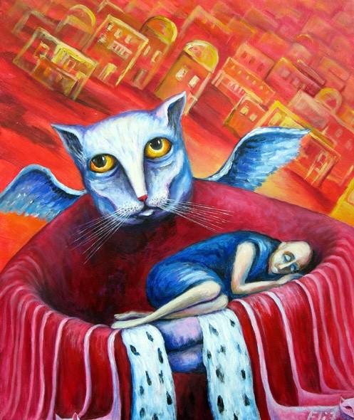 Иерусалимские коты и ангелы Несис Элишевы (Nesis Elisheva)