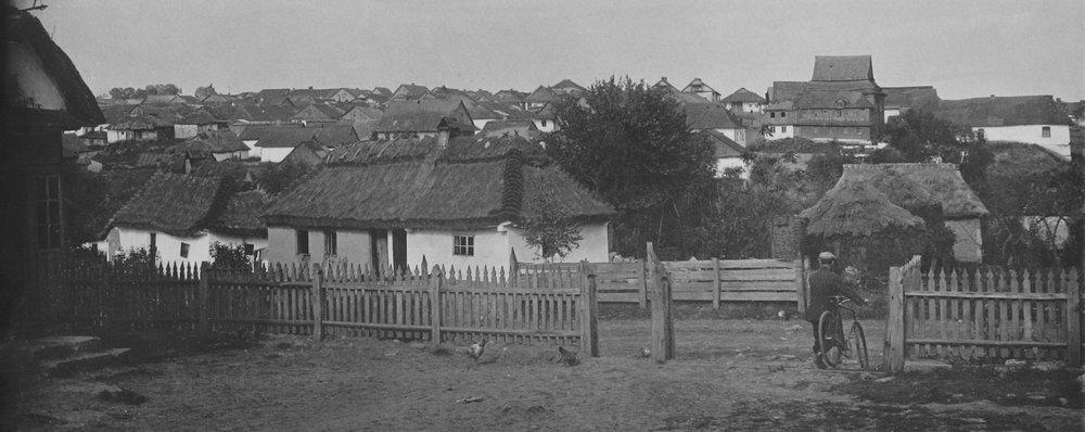 Панорама еврейской части м. Лянцкорунь. Фото П. Жолтовского. [1930 г.].– ИР НБУВ, ф. 278