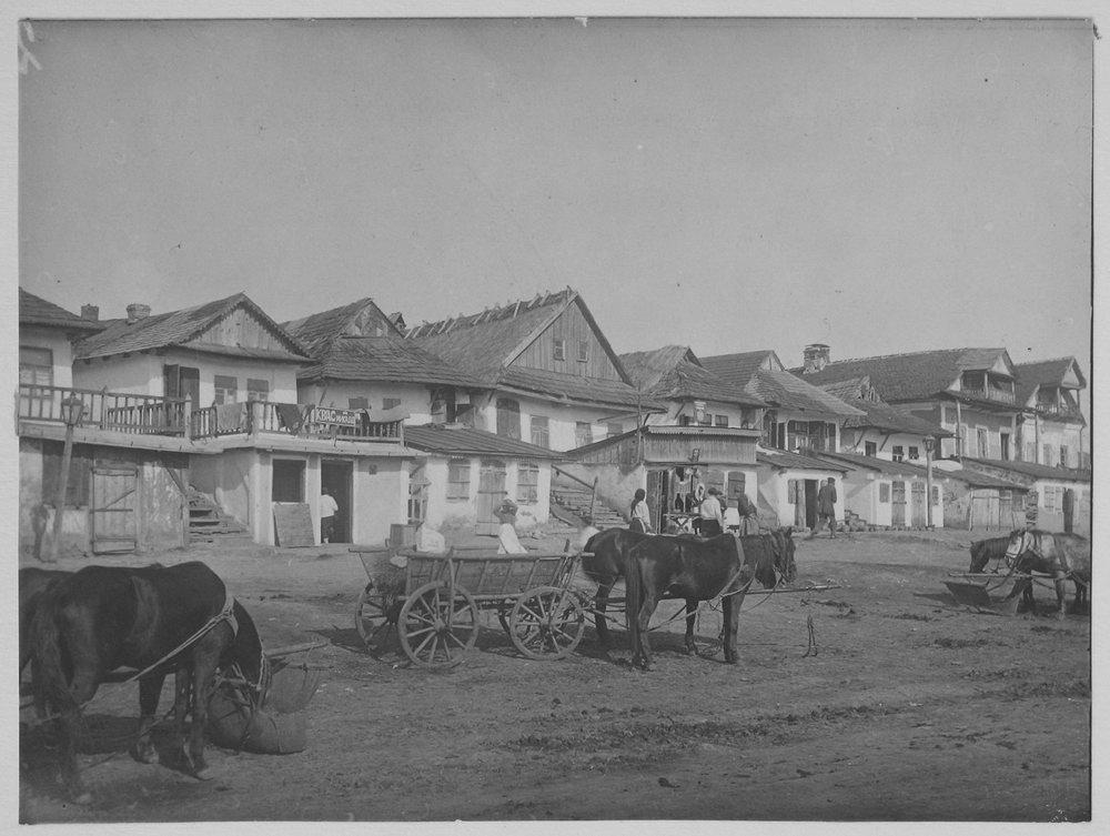 Еврейская улица в Лянцкоруни. Фото П. Жолтовского. [1930 г.].– ИР НБУВ, ф. 278