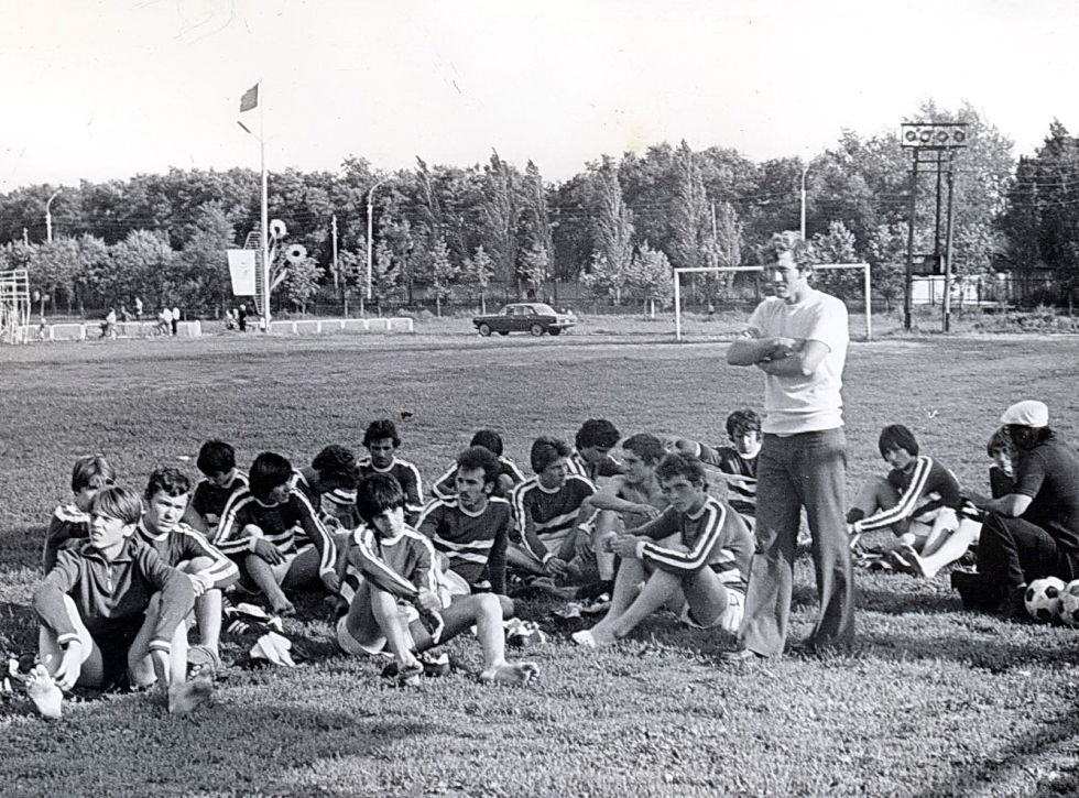 """работа с юношами """"Черноморца"""" 1979г."""