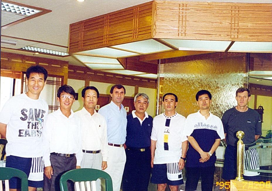 Вместе с А.Ф.Бышовцем в Корее 1995г.